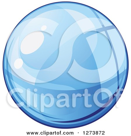 Clipart of a Blue Droplet of Water - Royalty Free Vector Illustration by Vector Tradition SM