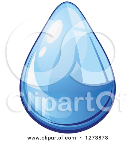 Clipart of a Blue Droplet of Water 10 - Royalty Free Vector Illustration by Vector Tradition SM