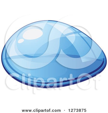 Clipart of a Blue Droplet of Water 9 - Royalty Free Vector Illustration by Vector Tradition SM