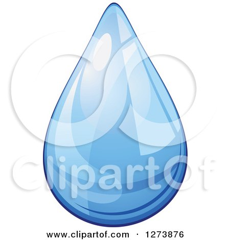 Clipart of a Blue Droplet of Water 3 - Royalty Free Vector Illustration by Vector Tradition SM