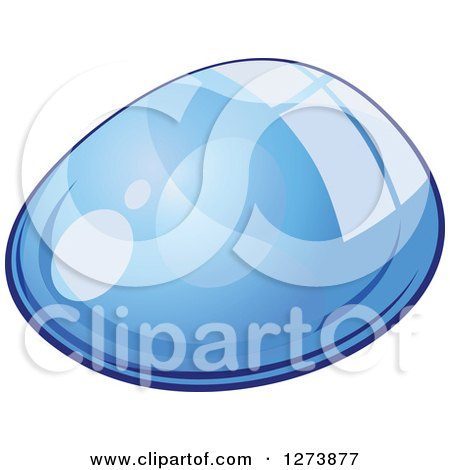 Clipart of a Blue Droplet of Water 4 - Royalty Free Vector Illustration by Vector Tradition SM