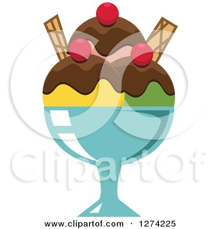Royalty-Free Vector Clip Art Illustration of an Ice Cream Sundae ...