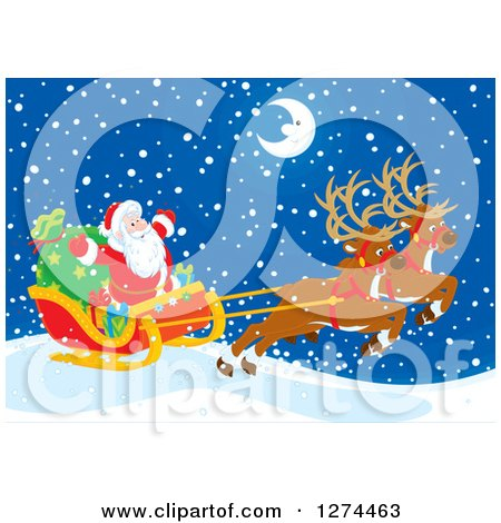 Clipart of Two Magic Christmas