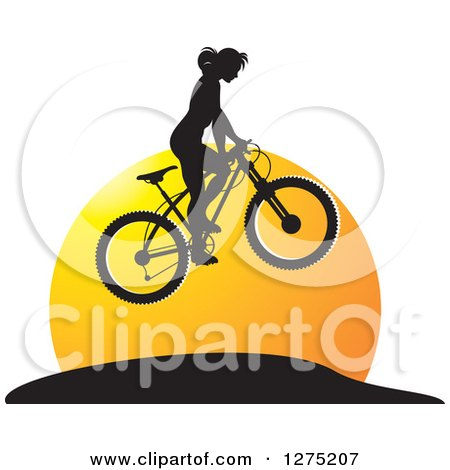 Royalty Free RF Mountain Bike Clipart Illustrations Vector