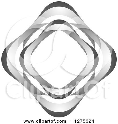 Clipart of a Silver Diamond Design - Royalty Free Vector Illustration by Lal Perera