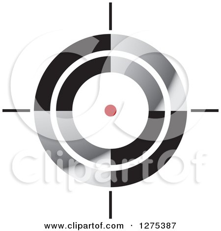 Clipart of a Red Spot in a Target - Royalty Free Vector Illustration by Lal Perera