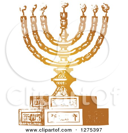Clipart Jewish Family And Hanukkah Menorah Royalty Free Vector Illustration By Bnp Design Studio 1064692