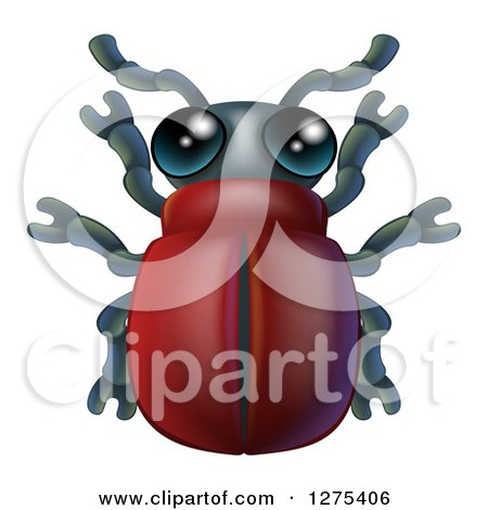 Clipart of a Cute Beetle Bug - Royalty Free Vector Illustration by AtStockIllustration