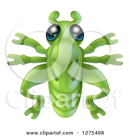 Clipart of a Cute Grasshopper Bug - Royalty Free Vector Illustration by AtStockIllustration