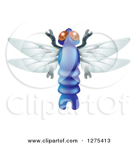 Clipart of a Cute Dragonfly Bug - Royalty Free Vector Illustration by AtStockIllustration