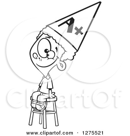 dunce hat template - royalty free smart illustrations by toonaday page 1