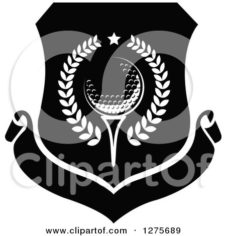 Golf Ball Logo Black Black And White Golf Ball