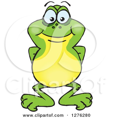 Clipart of a Happy Frog - Royalty Free Vector Illustration by Dennis Holmes Designs