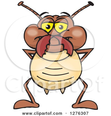 Clipart of a Happy Termite Standing - Royalty Free Vector Illustration by Dennis Holmes Designs