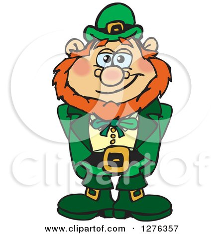 Clipart of a Happy Leprechaun - Royalty Free Vector Illustration by Dennis Holmes Designs