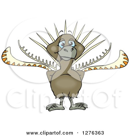Clipart of a Happy Lyrebird - Royalty Free Vector Illustration by Dennis Holmes Designs