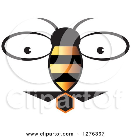 Clipart of a Bee and Eyes - Royalty Free Vector Illustration by Lal Perera