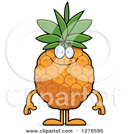 Clipart of a Happy Pineapple Character - Royalty Free Vector Illustration by Cory Thoman