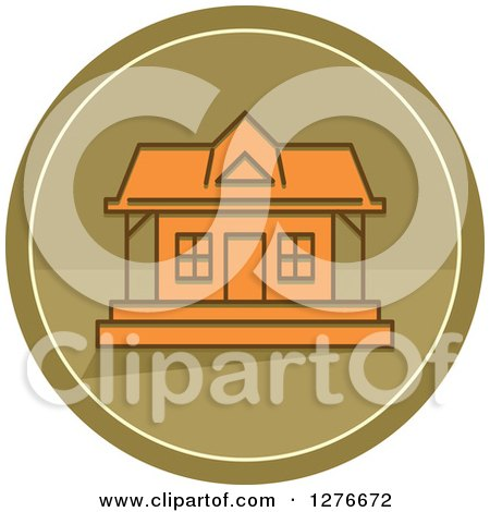 Clipart of a Hunting Cabin Icon - Royalty Free Vector Illustration by BNP Design Studio