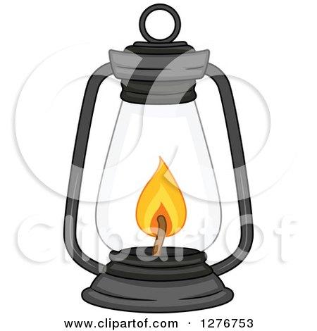 Clipart of a Lit Lantern - Royalty Free Vector Illustration by BNP Design Studio