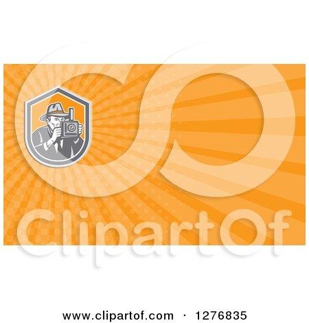 Clipart of a retro photographer and orange rays business card design clipart of a retro photographer and orange rays business card design royalty free illustration by patrimonio colourmoves