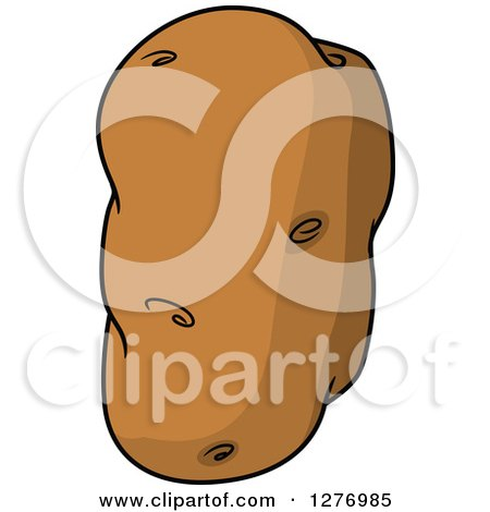 Clipart of a Russet Potato - Royalty Free Vector Illustration by Vector Tradition SM