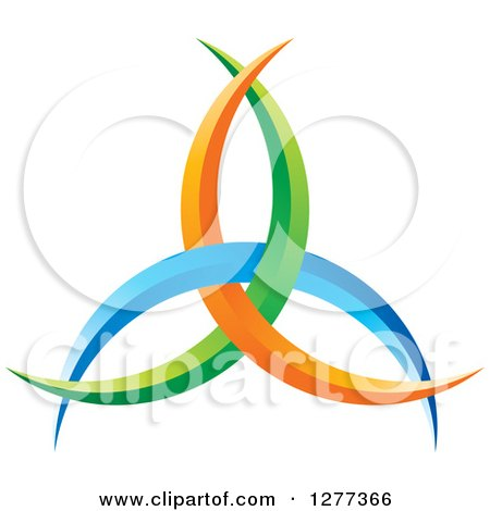 Clipart of a Blue Green and Orange Abstract Design - Royalty Free Vector Illustration by Lal Perera