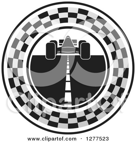 Racing Road Clipart White Race Car And Road