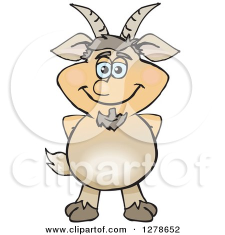 Clipart of a Happy Pan Standing - Royalty Free Vector Illustration by Dennis Holmes Designs