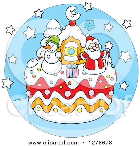 Royalty-Free (RF) Christmas Cake Clipart, Illustrations, Vector ...