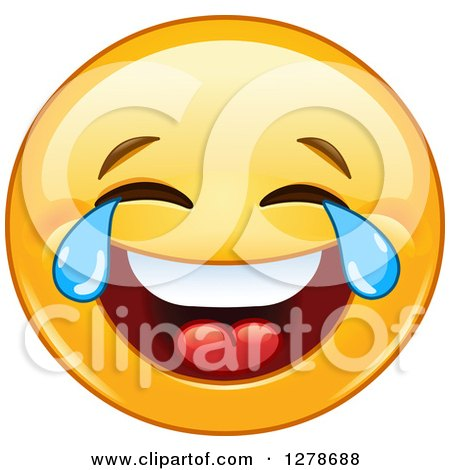 how to write a crying with laugher face facebook