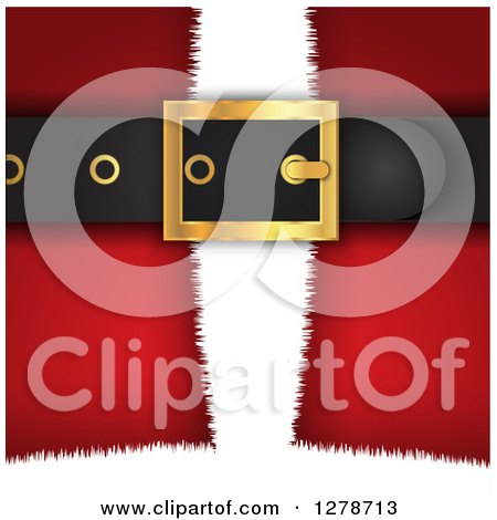 Clipart of a Closeup of Santa Suit's Belt Buckle - Royalty Free Vector Illustration by KJ Pargeter