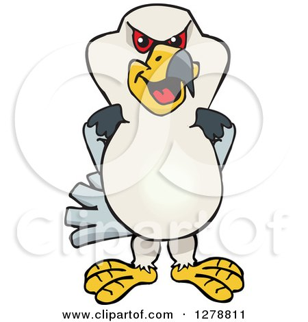 Clipart of a Kite Bird - Royalty Free Vector Illustration by Dennis Holmes Designs