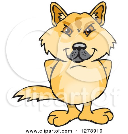 Clipart of a Dingo Standing - Royalty Free Vector Illustration by Dennis Holmes Designs