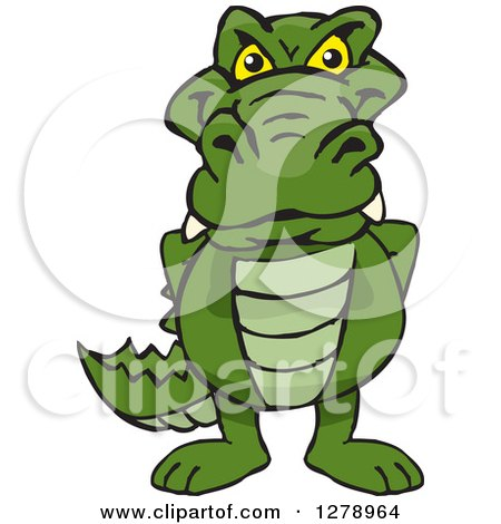Clipart of a Happy Alligator - Royalty Free Vector Illustration by Dennis Holmes Designs