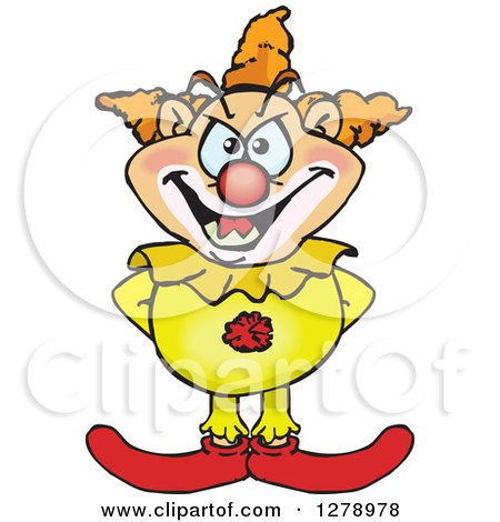 Clipart of a Creepy Clown - Royalty Free Vector Illustration by Dennis Holmes Designs