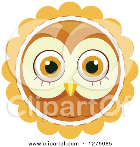 Royalty Free Rf Owl Face Clipart Illustrations Vector