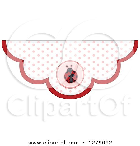 Clipart of a Polka Dot Ladybug Bunting Border - Royalty Free Vector Illustration by BNP Design Studio
