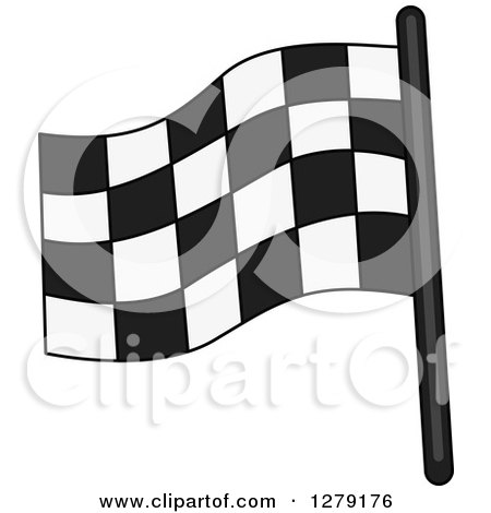 Clipart of a Checkered Car Racing Flag - Royalty Free Vector Illustration by BNP Design Studio