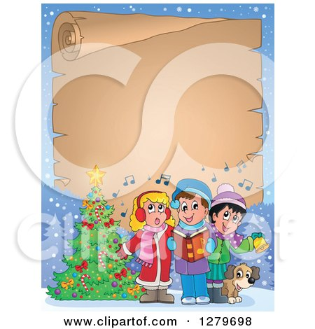 Royalty-Free (RF) Christmas Caroling Clipart, Illustrations ...