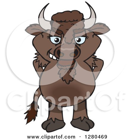Royalty-Free (RF) Bison Clipart, Illustrations, Vector Graphics #1