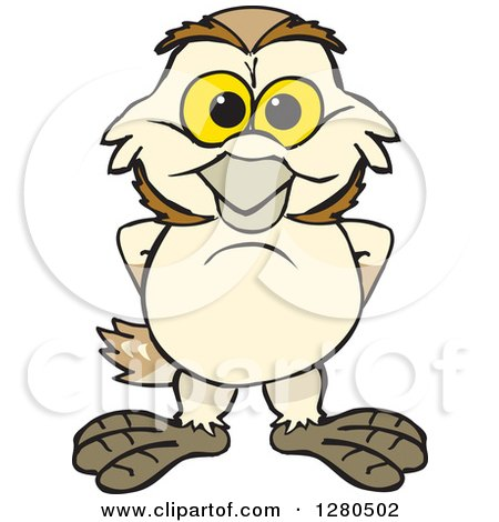 Clipart Of A Happy Barn Owl Royalty Free Vector Illustration