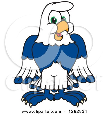 Clipart Of A Happy Seahawk School Mascot Character Royalty Free Vector Illustration