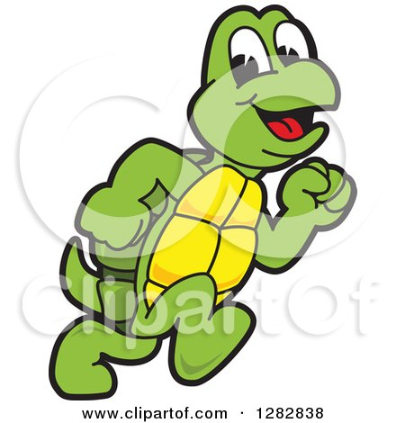 Clipart of a Happy Turtle School Sports Mascot Character ...