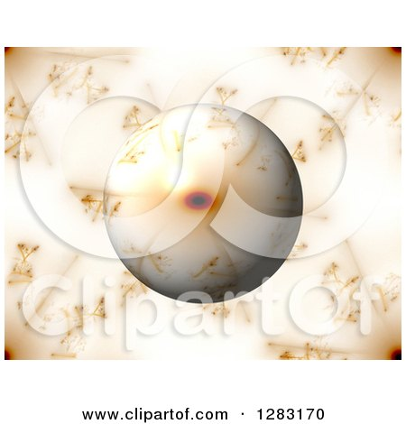 Clipart of a 3d Fractal Sphere on a Matching Background - Royalty Free Illustration by oboy