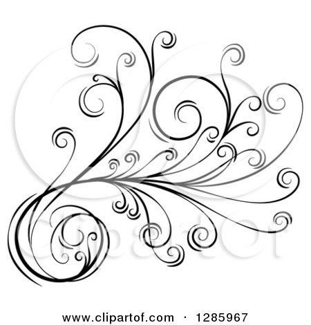 Royalty-Free (RF) Floral Scroll Clipart, Illustrations, Vector ...