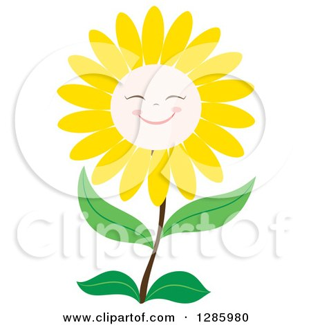 Royalty-Free (RF) Flower Character Clipart, Illustrations ...