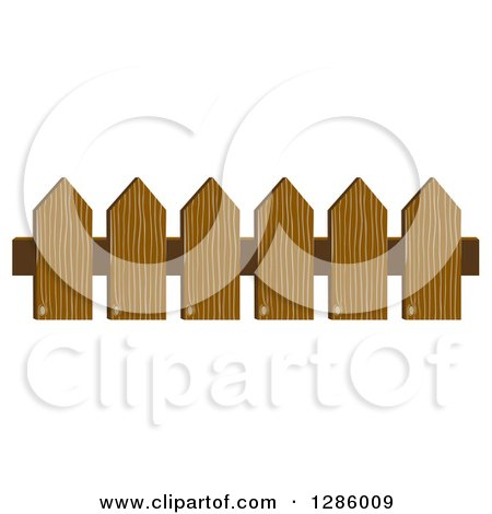 Clipart of a Wooden Picket Fence - Royalty Free Vector Illustration by Cherie Reve