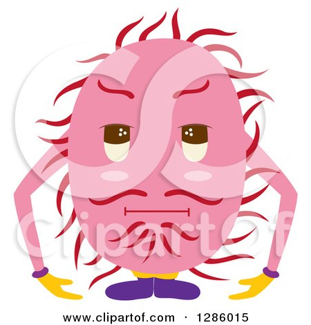 Clipart of a Hairy Rambutan Character - Royalty Free Vector Illustration by Cherie Reve