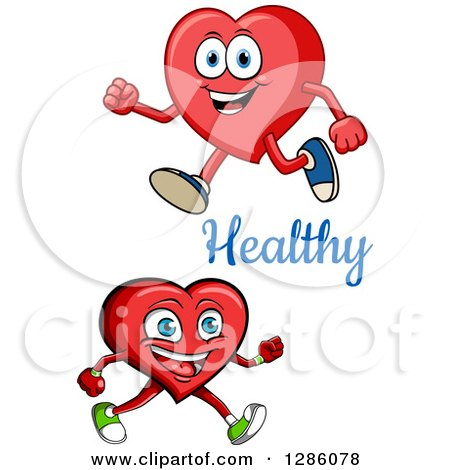 Clipart of Happy Heart Characters